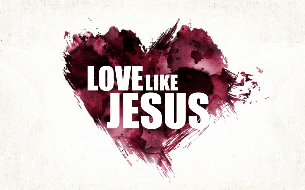 love like jesus paint heart design so big